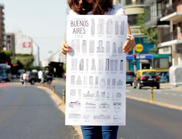 lamina edificios de buenos aires papelera contemporanea jolly josefina