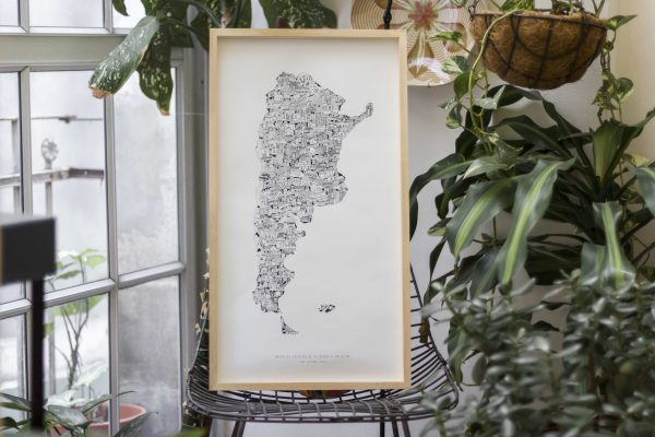 Mapa de argentina jolly josefina edifcios cuadro poster mapita