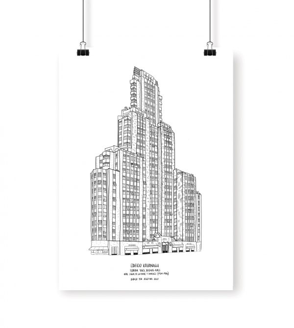 kavanagh edificio building buenos aires poster dibujo drawing cuadro josefina jolly buenos aires