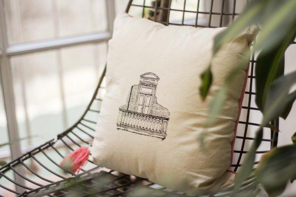 almohadon balcon serigrafia tela tejido buenos aires josefina jolly
