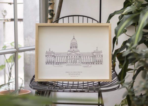 congreso nacional dibujo cuadro edificiio jolly josefina buenos aires