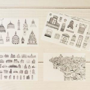 postales ba buenos aires tarjetas tarjetitas josefina jolly 313 dibujos