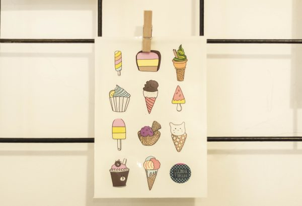stickers comida sushi hamburguesas burger helado pegatinas figuritas cocinar y dibujar comida comiditas josefina jolly